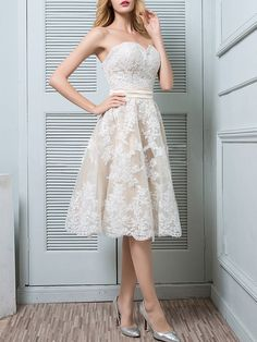 Weiße Spitze Bandeau Drapierte Rückenfrei Elegante Midikleid Party  Abschlusskleid Abendkleid - Kleider 61207cec18