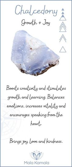 What is the meaning and crystal and chakra healing properties of chalcedony? A stone for personal growth and joy.