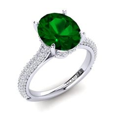 An emerald engagement rings is bought once in a lifetime, so it is very unique and special for the buyer and the receiver. Glamira Ring, Emerald, Engagement Rings, Stone, Unique, Stuff To Buy, Relationship, Suits, Jewelry