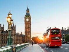London Big Ben and traffic on Westminster Bridge - Sylvain Sonnet/The Image Bank/Getty Images Big Ben, London Hotels, London Places, Travel List, Travel Deals, Airline Travel, Best Cities In Europe, London Winter, Travel Packing