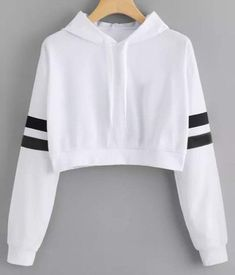 Cat Ear Casual Comfort Solid Long Sleeve Hoodie Sweatshirt Hooded Pullover Tops Roupas Color white Size S Cute Lazy Outfits, Crop Top Outfits, Stylish Outfits, Girls Fashion Clothes, Teen Fashion Outfits, Girl Outfits, Emo Outfits, Punk Fashion, Lolita Fashion