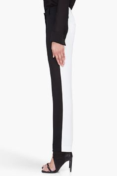 3.1 PHILLIP LIM Two Tone Silk Pencil Trousers