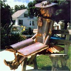 Harvey Gallery Alice in Wonderland Staute Fairy Statues, Garden Statues, Garden Sculptures, Metal Sculptures, Outdoor Statues, Outdoor Chairs, Outdoor Decor, Metal Garden Art, Metal Art