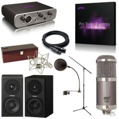 Home Recording Studio Bundle Pro Tools Avid Fast Track Solo MXL Mic Fostex Mon. I'm not sure if this is exactly what I'm looking for but wanted to pin so I could research more.