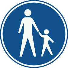 Je moet op dit pad lopen als voetganger. gemaakt door :vivian en evi
