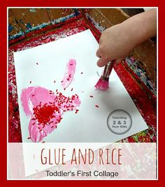 Want to know how to start collages with your toddler? Here are some basic steps from Teaching 2 and 3 Year Olds.