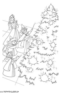 Disney Coloring Pages, Coloring For Kids, Colouring Pages, Christmas Colors, Christmas 2019, Christmas Crafts, Sleeping Beauty Coloring Pages, Christmas Coloring Sheets, Christmas Inspiration