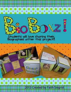 An exciting and fun project you can do with your students or as an independent project after you have read any biography or autobiography!!  This kit comes with all the templates that you need plus a rubric if you want to use this as a grade.  Step-by-step picture instructions are included to make assembly a little easier!  There will be more BOXZ project come in the future, so make sure you follow my store so you can be notified when they are posted!