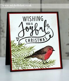 #GDP065 Christmas Robin Card - with Michelle Last