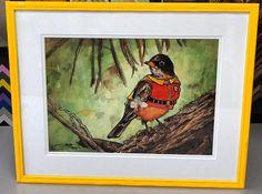 Robin. #art #denver #colorado #pictureframing #customframing #robin #batman