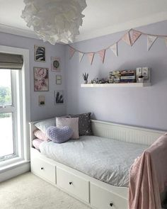 HEMNES Day-bed frame with 3 drawers white IKEA Girl Bedroom Designs Daybed drawers Frame Hemnes Ikea White Bed For Girls Room, Bedroom Decor For Teen Girls, Cute Bedroom Ideas, Room Ideas Bedroom, Small Room Bedroom, Small Teen Bedrooms, Bedroom Ideas For Small Rooms For Teens For Girls, Ikea Room Ideas, Girls Daybed
