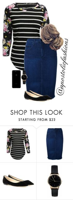 """Apostolic Fashions #1756"" by apostolicfashions ❤ liked on Polyvore featuring Nobody Denim, Jimmy Choo and Freedom To Exist"