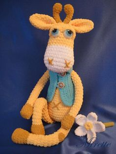 Gerard the #amigurumi #giraffe