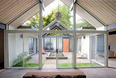 atrium house plan photos