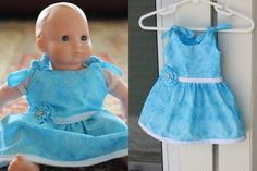 Great tutorial for DIY doll clothes! I got krista a bitty for christmas the clothes are so expensive I want to try making my own
