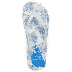 Disney's Cinderella ''If the Shoe Fits'' Women's Floral Flip-Flops