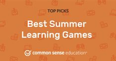Best Summer Learning Games