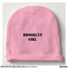 d27ebcac3ad BROOKLYN GIRL Infant Hat Baby Beanie Brooklyn Girl