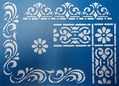 Corners and Borders Stencil by kraftkutz on Etsy