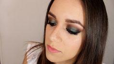 Maquillaje de ojos ahumados en tonos verdes y cafés - maquillaje de noche / Green and brown smokey eyes, dupe for MAC Club