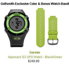 Garmin Approach S2 Golf GPS Watch - Green