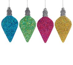 Enjoy Bright Christmas Decorations with these Light-shaped Ornaments! #burtonandburton #holidays #colorful