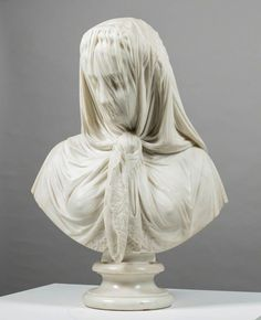 The Veiled Lady Lombardi was a C Roman painter and sculptor known for his attention to detail. This bust has a wet-drapery effect inspired by the Hellenistic period of Ancient Greece. 'The Veiled Lady' by Giovanni Battista Lombardi Towner Gallery Hellenistic Art, Hellenistic Period, History Of Wine, Roman Sculpture, Ancient History, European History, Ancient Aliens, American History, Art Corner