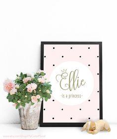 Baby wall art Personalized gifts for kids Baby by MyColorMood