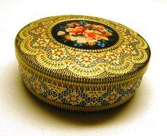 Vintage Mosaic Tin. $18.00, via Etsy.
