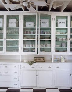 i love the paint inside of the glass door cabinets - Paint Inside Kitchen Cabinets