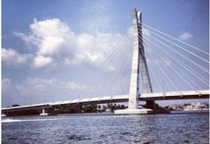 The Lagos State Governor, Babatunde Raji Fashola has finished building the first suspension bridge in Nigeria, making it another landmark in the history of the Federation. According to reports, the 1.358km bridge, which will link Ikoyi (Alexander Street) to Lekki (Admiralty Way), cost about N29 billion and toll would be collected to recover the money… Suspension Bridge, History, Street, Bridges, Buildings, Life, Money, Image, Lakes