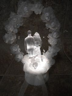 Wedding Cake Topper w/Light...wishing you a Bright future...