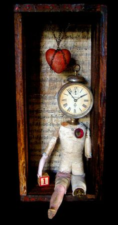 """You Are The One"" - 2014 mixed media assemblage by Dianne Hoffman"