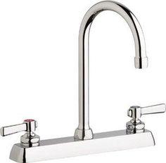 Polished Chrome Metal Cross Handle Kingston Brass KS4261DX Concord 4-Inch Centerset Lavatory Faucet