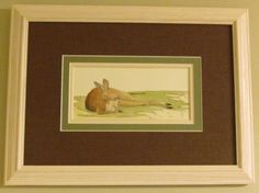 Framed Kangaroo - Original watercolor painting by Juan Bosco of sanmartin-artscrafts.com    (Visit Ebay, Etsy and Fineartamerica.com to view available prints and originals)
