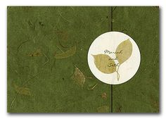 Wedding invitations with warm, rustic autumn colors and pressed seasonal flowers and leaves are perfect for the upcoming fall season! Angelicia with Pressed Maple Leaf Closure, InviteSite There are many green companies that make invitations printed on recycled papers free of chemicals and waste or you can choose to make simple DIY invitations with sustainable …