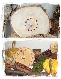 Uhren aus Baumscheiben