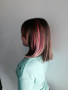Mateja, our hairstylist at Parlour Salon in Redondo Beach, did this young ladies hair this weekend! She gave her a haircut and some bright pink highlights! We love doing kids' hair.