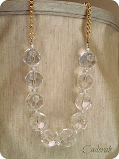 Crystal and Gold by Cadorah on Etsy, $28.00