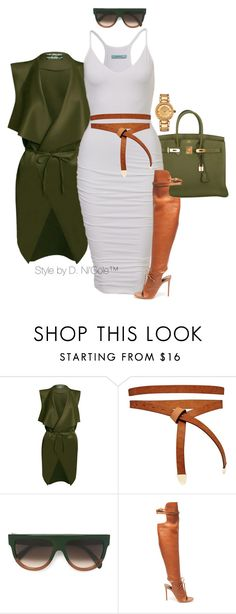 """Untitled #3282"" by stylebydnicole ❤ liked on Polyvore featuring Hermès, ASOS, CÉLINE, Altuzarra and Versace"