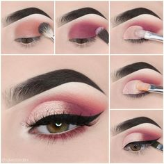 Makeup tutorial step by step - dress models - # eyeshadow looks . - Make-up tutorial step by step – dress models – Looks step by step the # - Makeup Eye Looks, Eye Makeup Steps, Skin Makeup, Makeup Eyeshadow, Eyeshadow Makeup Tutorial, Eyeshadow Palette, Makeup Brushes, Eyeshadows, Makeup Remover