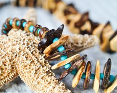 Beaded Necklaces  Natural Hemp  Tropical Jewellery  Eco Friendly  Unique Necklace  Unique Jewelry Recycled Beads  Tropical Necklace  Natural Necklace  Coconut Shell  Blue Necklace  Ethical Jewellery  Boho Jewelry Ethical Jewelry thecoastaldesert The Coastal Desert