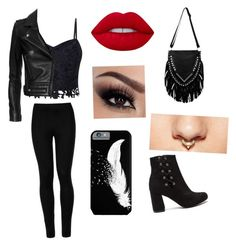 """""""Untitled #44"""" by zuhraasad on Polyvore featuring Lipsy, Wolford, Lime Crime, Forever 21 and IRO"""