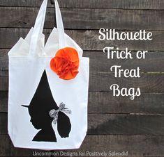 Custom Silhouette Trick-or-Treat Bags