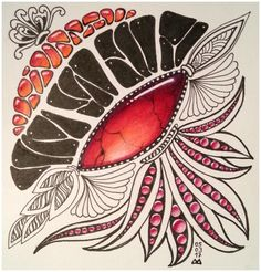 mein Neuestes gem-zentangle Juwel Steine Muster Zeichnung