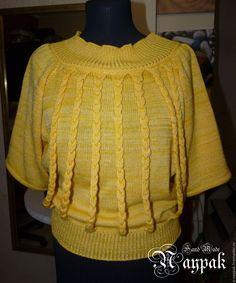 """Купить Авторский трикотаж """"Солнышко"""" - желтый, свитер вязаный, свитер, джемпе, джемпер вязаный"""
