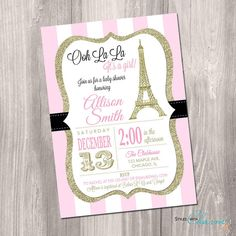 This listing is for a customized baby shower invitation design that paris baby shower invitation eiffel tower baby by styleswithcharm solutioingenieria Choice Image