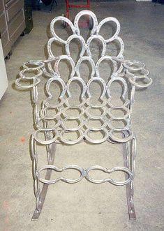Miller - Welding Projects - Idea Gallery - Horseshoe Yard Rocker #GardenChair