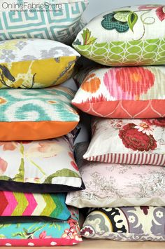 Thousands of Decor fabrics to create stylish home decor accessories, pillows, curtains and upholstery. #sewing #DIY