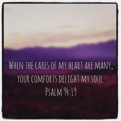 When doubts filled my mind your comfort gave me renewed hope and cheer. (Psalms 94:19 NLT) #scripture4atm #gopinkandblue